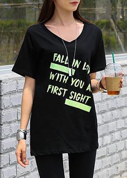 "487434 - <font color=""878787""><font face=""굴림"">乍一看beuyinek印花T恤</font></font>"