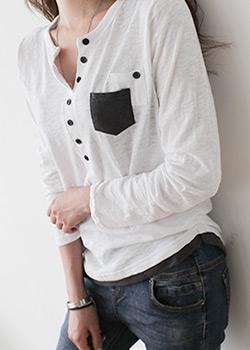 488314 - 残破的砖口袋T恤
